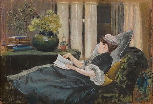 Louis C. Tiffany, Louise Tiffany, reading