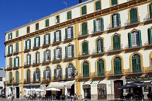 Fotografie, Geburtshaus Picassos in Málaga, Plaza de la Merced 36