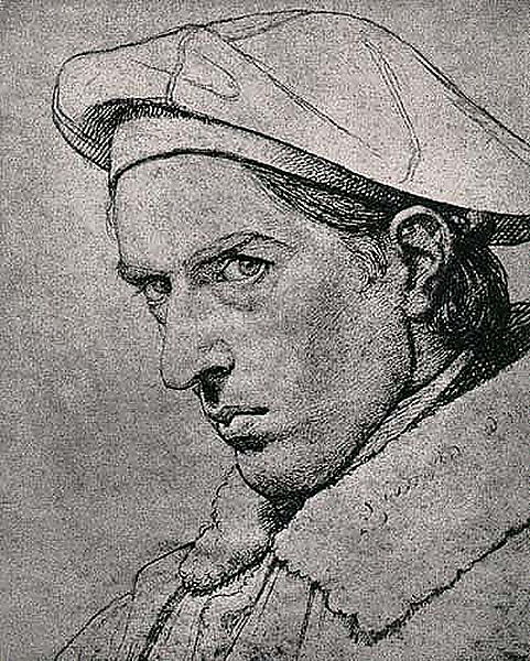 Zeichnung, Selbstporträt Friedrich Overbeck