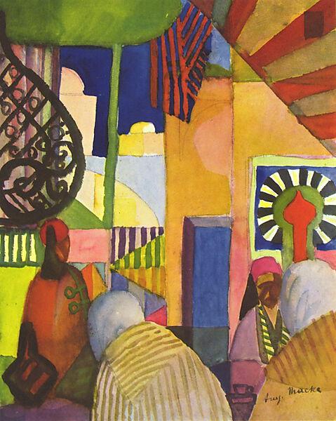 August Macke (deutscher Maler, 1887-1914), Im Basar