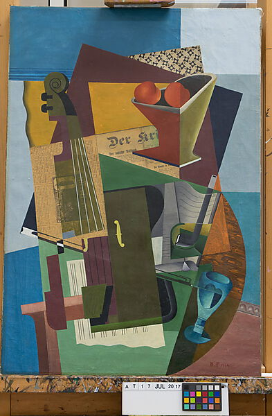 Braque, Synthetic Cubism Colle Recto