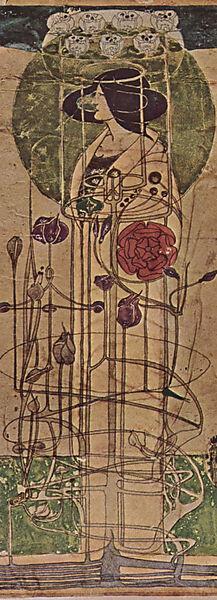 Charles Mackintosh, Entwurf für eine Wanddekoration