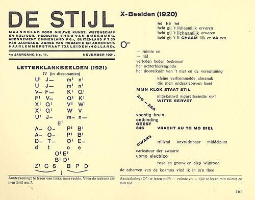 Theo van Doesburg: Zeitschrift De Stijl