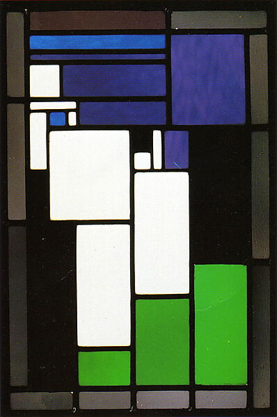 Theo van Doesburg, Stained-glass Composition Female Head