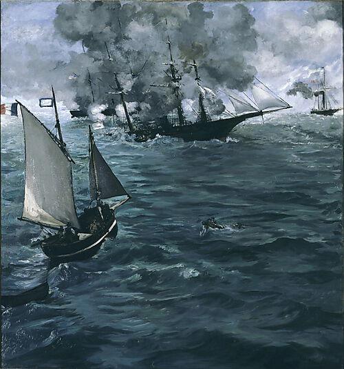 Édouard Manet, Die Schlacht zwischen der U.S.S. Kearsarge und der C.S.S. Alabama