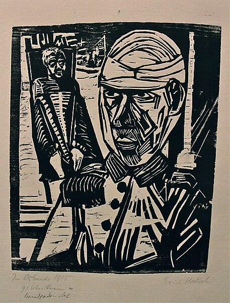 Erich Heckel, Zwei verwundete Männer