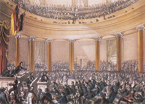 Sitzung der Nationalversammlung im Juni 1848
