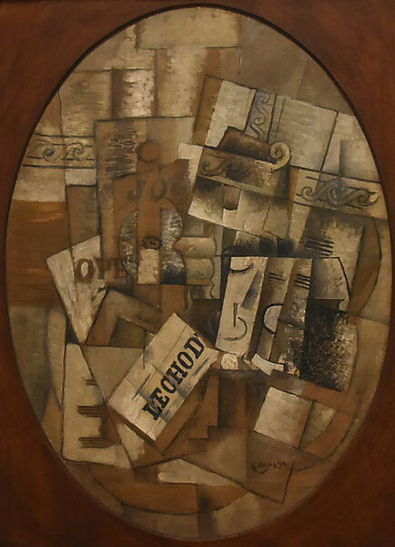 Georges Braque, Still Life with Glass and Newspaper