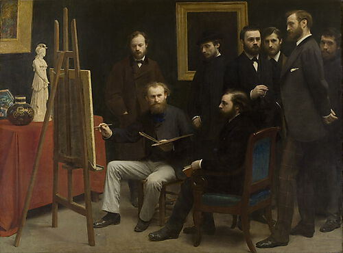 Henri Fantin-Latour - A Studio at Les Batignolles