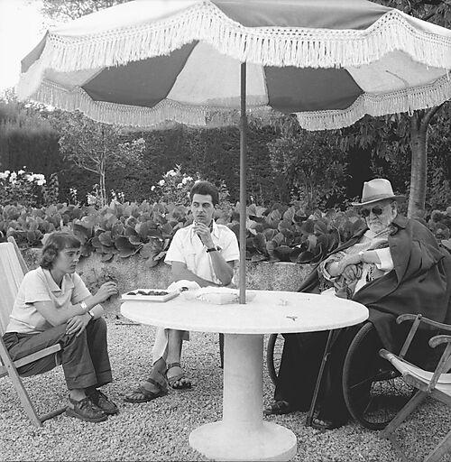Fotografie Henri Matisse mit Freunden in der Villa La Jonque