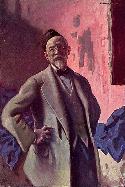 Hugo Freiherr von Habermann, Selbstportrait