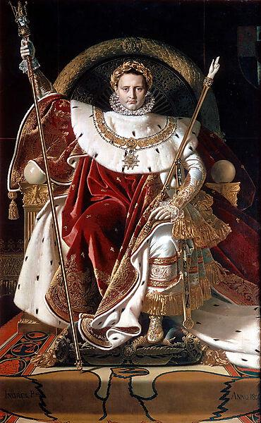 Napoleon I. auf seinem kaiserlichen Thron,