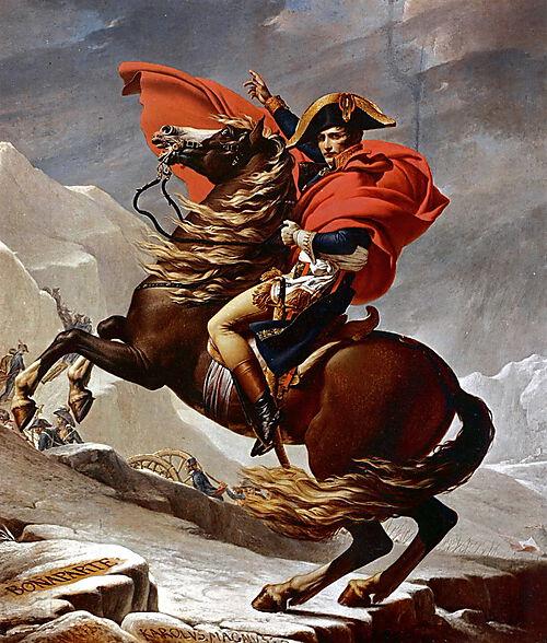Napoleon überquert die Alpen
