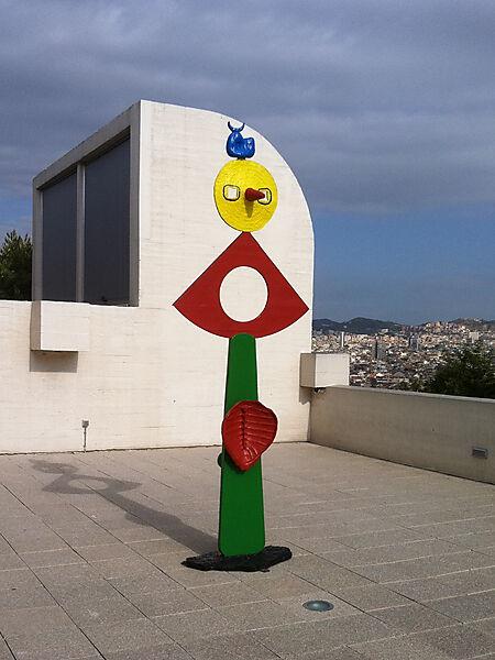 """Joan Miró: La carícia d'un ocell (""""Die Liebkosung eines Vogels""""), bemalte Bronze"""