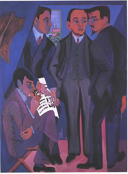 """Gruppenbild der expressionistischen Künstlergemeinschaft """"Die Brücke"""""""