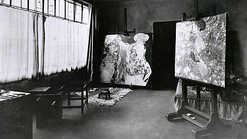 Fotografie von Gustav Klimts Atelier