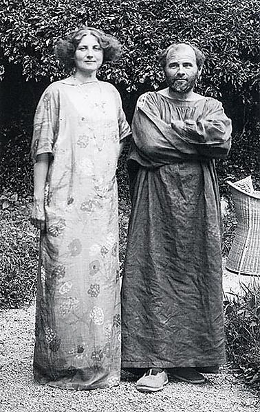 Fotografie, Gustav Klimt und Emilie Flöge