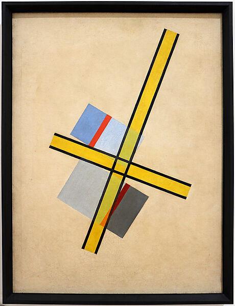 Làzloò Moholy-Nagy, yellow cross Q VII