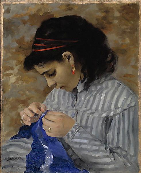 Pierre-Auguste Renoir, Lise (Tréhot) cousant