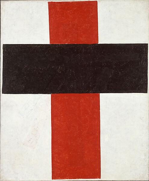 Kasimir Malewitsch, Großes Kreuz in Schwarz über Rot auf Weiß