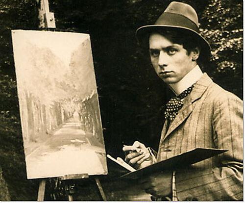 Max Ernst im Brühler Schlosspark