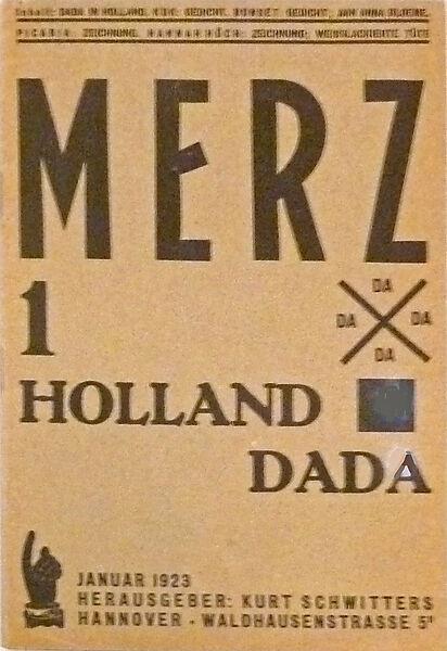Kurt Schwitters, Erste Nummer der Zeitschrift Merz