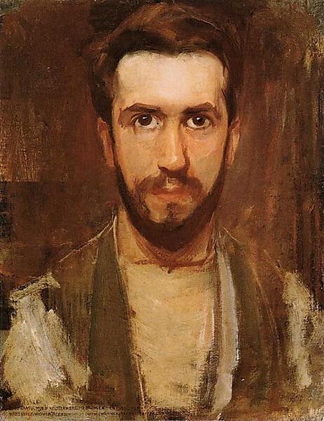 Piet Mondrian, Selbstporträt