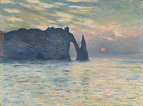 Claude Monet, Sonnenuntergang bei Etretat
