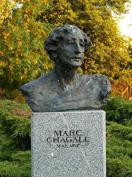 Büste von Marc Chagall in Kielce