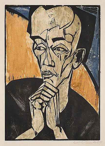 Erich Heckel, Portrait of a Man