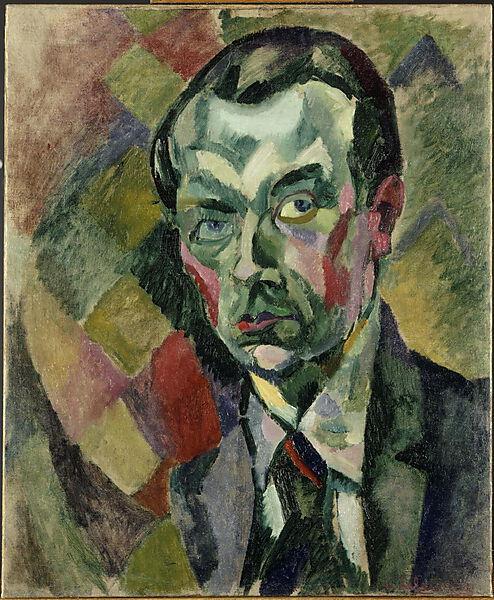 Robert Delaunay (französischer Maler des Orphismus, 1885-1941), Selbstportrait