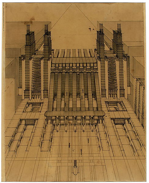 Antonio Sant'Elia: Zentral Bahnhof mit Flugplatz (Architektur)