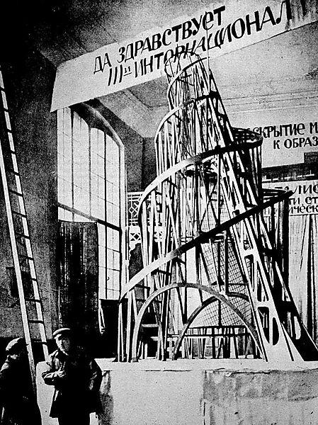 Wladimir Jewgrafowitsch Tatlin (russischer und sowjetischer Künstler, wichtiger Vertreter des Konstruktivismus, 1885-1953), Modell für das Monument für die Dritte Internationale