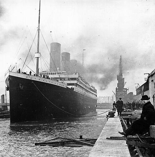 Titanic an den Docks von Southampton