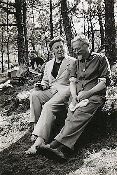 Fotografie, André Breton und Leo Trotzki