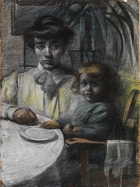 "Umberto Boccioni, ""The wife and daughter of Giacomo Balla"""