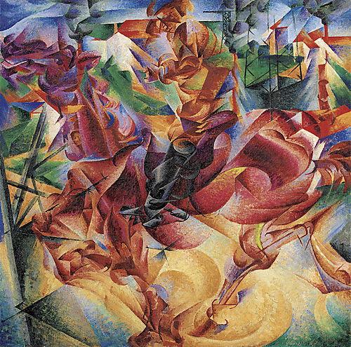 Umberto Boccioni, Elasticity (Elasticità)