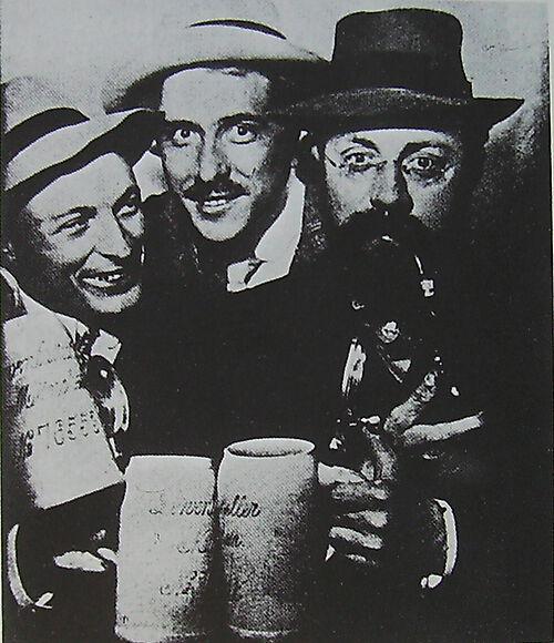 Fotografie Hans Purrmann, Albert Weisgerber, Henri Matisse in München